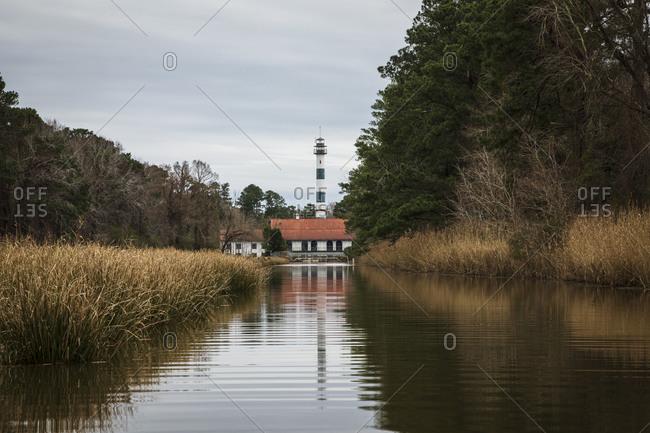 Pumphouse lodge at the edge of Lake Mattamuskeet in Mattamuskeet NWR