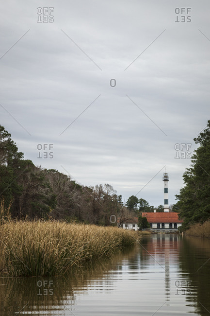 The Pumphouse lodge at the edge of Lake Mattamuskeet in Mattamuskeet National Wildlife Refugee in North Carolina