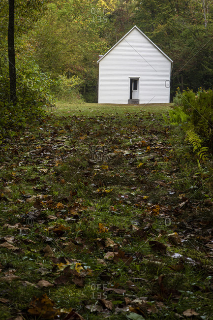 One room school house in Cataloochee Valley in the Great Smoky Mountains of North Carolina