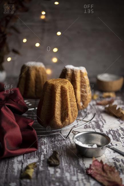 Mini pandoro Italian Christmas dessert