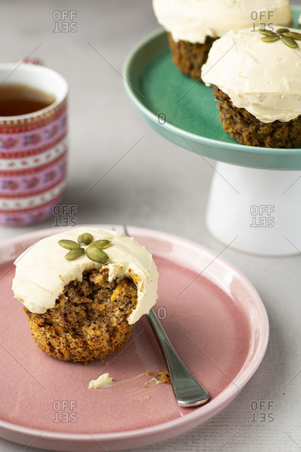 Carrot Muffin with Cream Cheese Icing