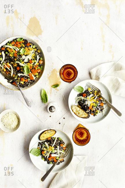 Black Lentil Salad with Tangerine Vinaigrette