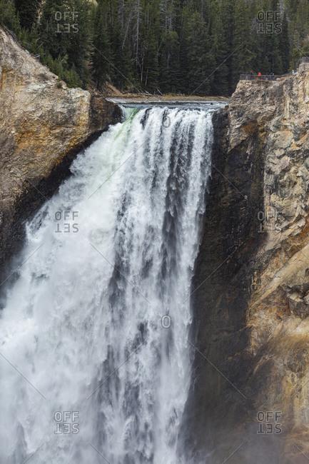USA, Wyoming, Yellowstone National Park, Lower Yellowstone Falls in Grand Canyon of Yellowstone National Park