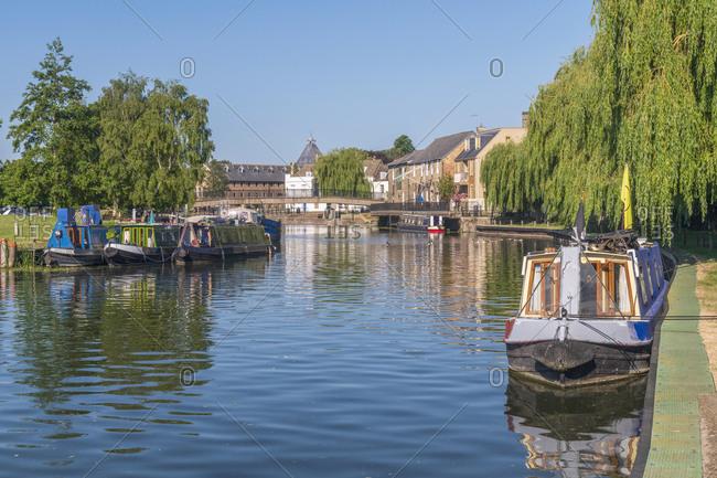 June 1, 2020: River Great Ouse, Ely, Cambridgeshire, England, United Kingdom, Europe