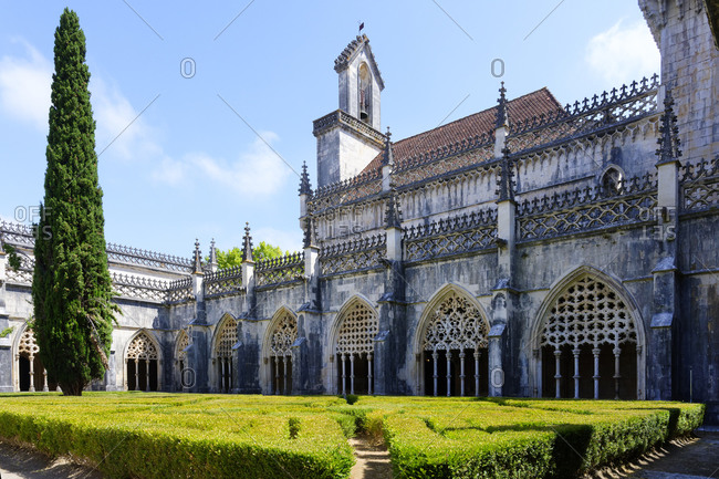 King Joao I Cloister, Arcade Screens, Dominican Monastery of Batalha (Saint Mary of the Victory Monastery), UNESCO World Heritage Site, Batalha, Leiria district, Portugal, Europe