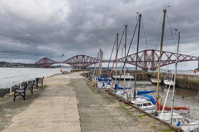 The Forth Bridge, cantilever bridge, UNESCO World Heritage Site, Firth of Forth, Scotland, United Kingdom, Europe
