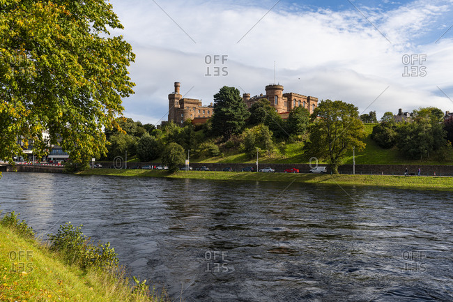 September 14, 2020: Inverness Castle, Inverness, Highlands, Scotland, United Kingdom, Europe
