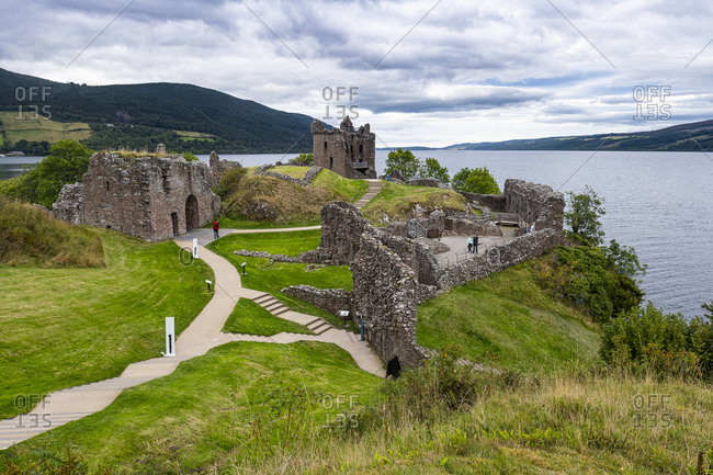September 14, 2020: Urquhart Castle, Loch Ness, Highlands, Scotland, United Kingdom, Europe