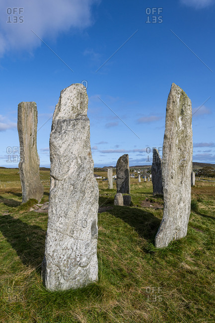 Callanish Stones, standing stones from the Neolithic era, Isle of Lewis, Outer Hebrides, Scotland, United Kingdom, Europe
