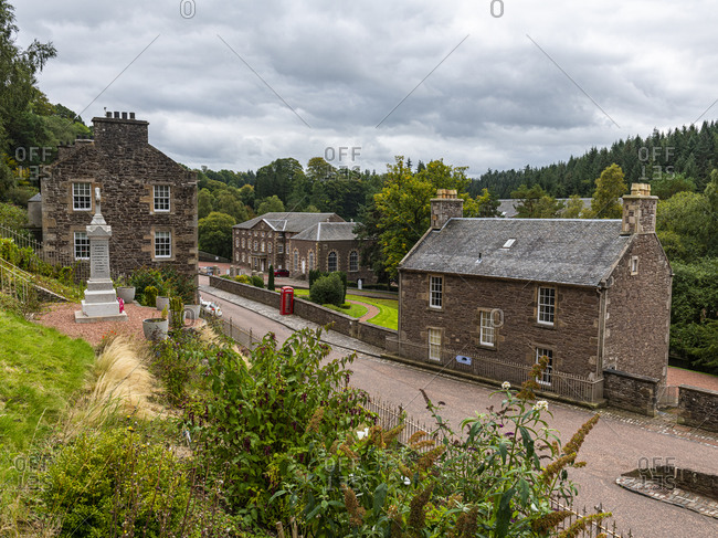 September 10, 2020: The industrial town of New Lanark, UNESCO World Heritage Site, Scotland, United Kingdom, Europe