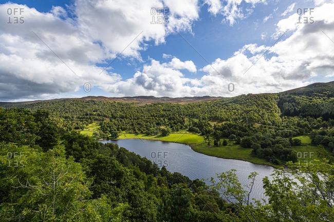 Queens View over Loch Tummel, Perthshire, Highlands, Scotland, United Kingdom, Europe