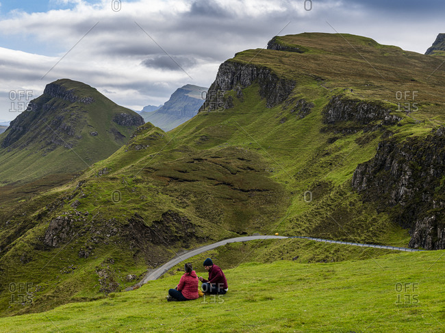 September 17, 2020: Mountain scenery, Quiraing landslip, Isle of Skye, Inner Hebrides, Scotland, United Kingdom, Europe