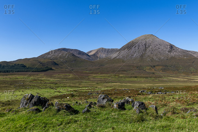 Black Cuillin ridge, Isle of Skye, Inner Hebrides, Scotland, United Kingdom, Europe
