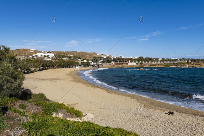 Paraga beach, Mykonos, Cyclades, Greek Islands, Greece, Europe