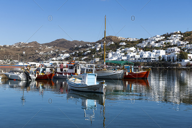 October 27, 2020: Horta, Mykonos, Cyclades, Greek Islands, Greece, Europe