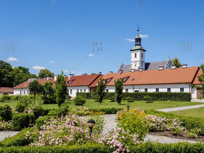 July 5, 2020: Camaldolese Monastery complex in Rytwiany, Swietokrzyskie Voivodeship, Poland, Europe