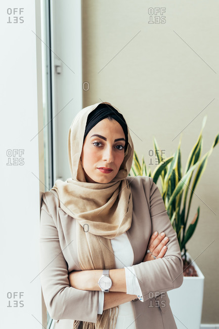 Portrait of a businesswoman staring at the camera