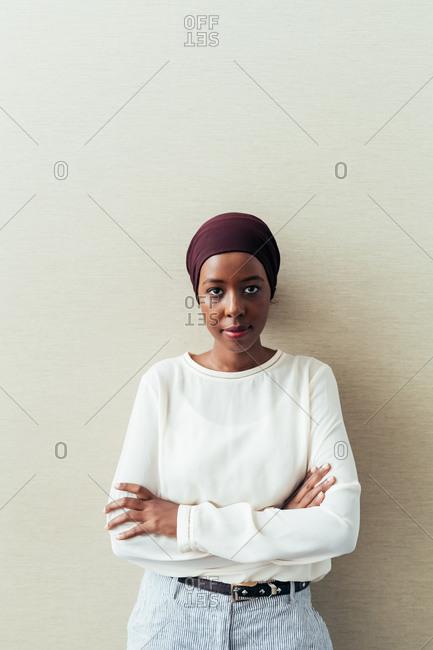 Portrait of a Muslim businesswoman