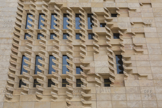 April 28, 2016: Parliament House designed by the architect Renzo Piano, Valletta, Malta