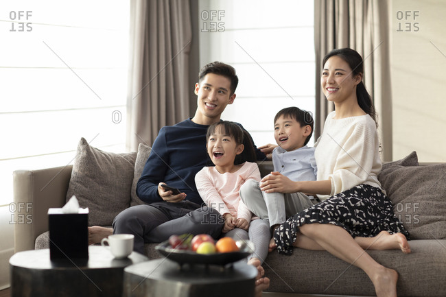 Young family and smart home