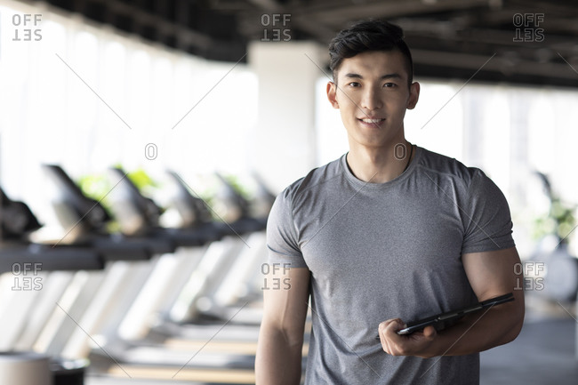 Young male Asian fitness instructor