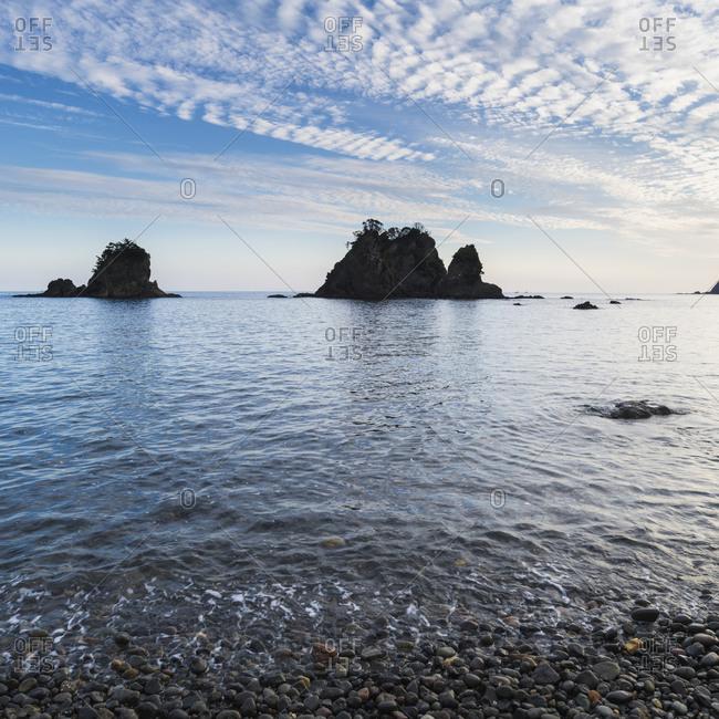 Sea stacks by the beach in Izu Peninsula, Shizuoka Prefecture, Japan