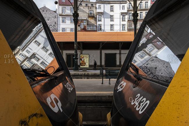 Porto, Portugal - August 31, 2020: Trains at Sao Bento Railway Station