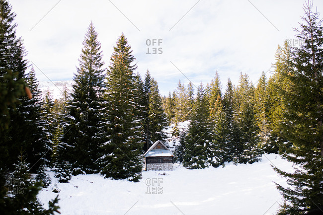 Old stone cabin in the Bjelasnica mountains in Bosnia and Herzegovina