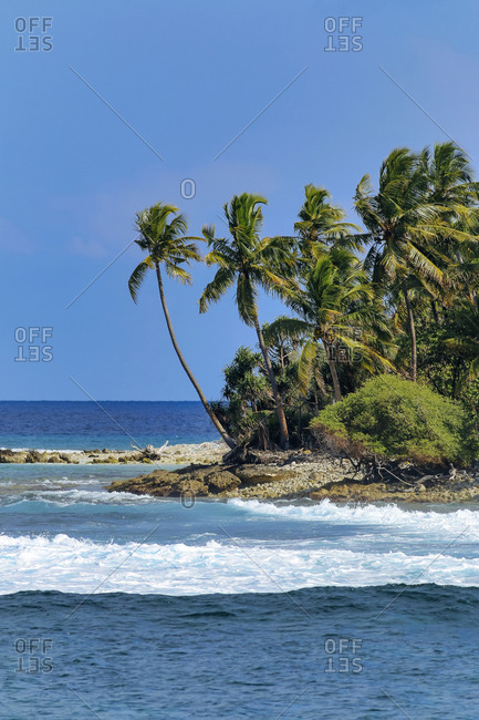 Beautiful scenery of Huraa Island at Maldives