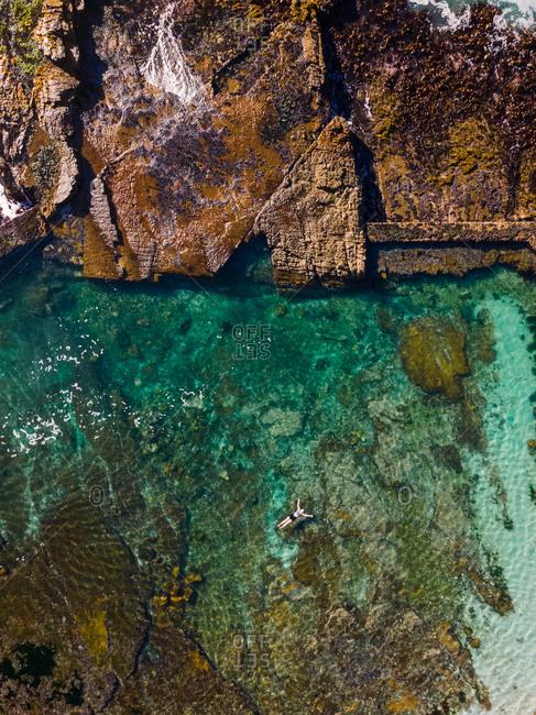 Aerial view of Hermanus tidal pool, Hermanus, South Africa