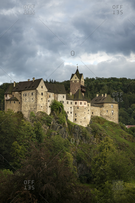 Scenic view of Loket Castle, Loket, Czech Republic