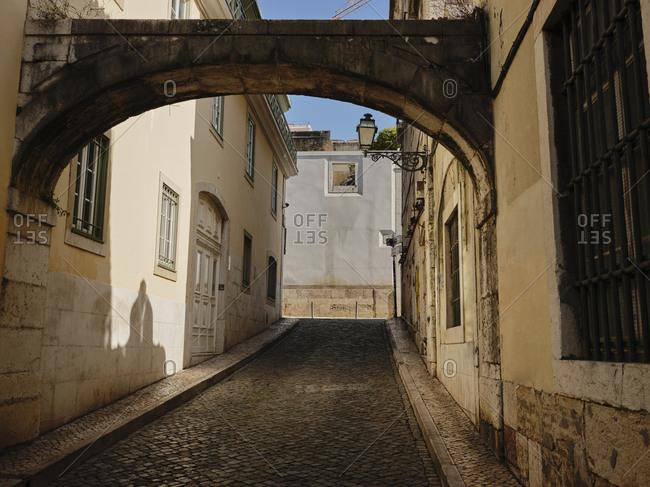 Narrow alley way in Portugal