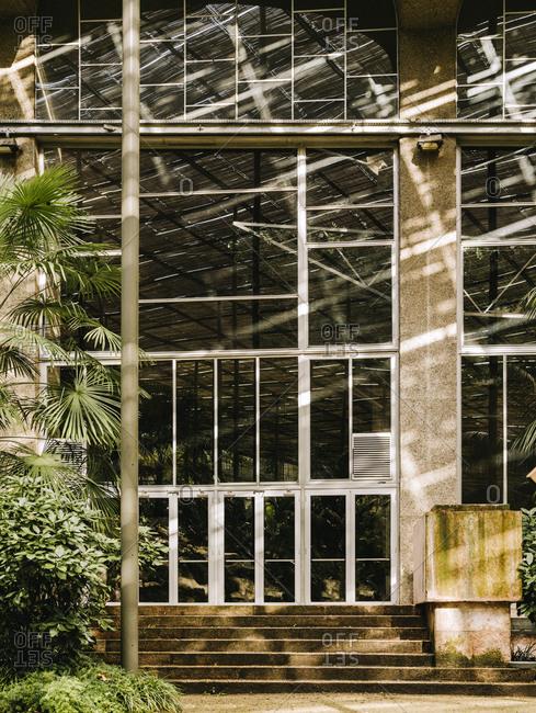 Building entrance at Estufa Fria Botanic Gardens