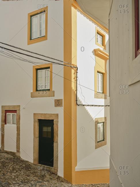 Cobble stone streets in Castelo De Vide