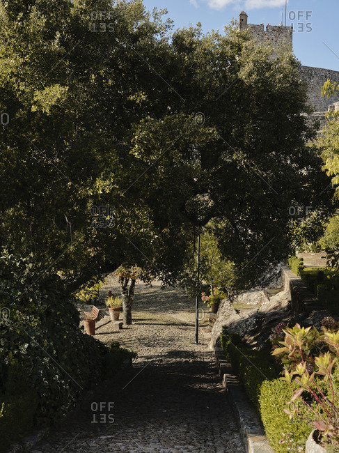 Pathway leading to Marvao Castle and garden