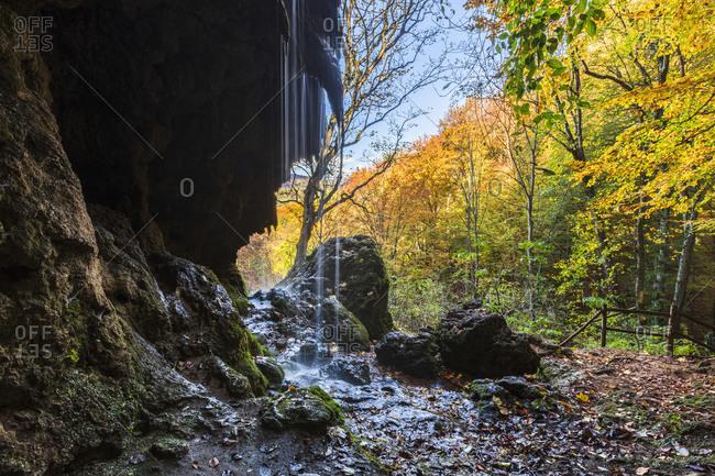 Autumn Waterfall - Varovitets falls near Etropole Monastery