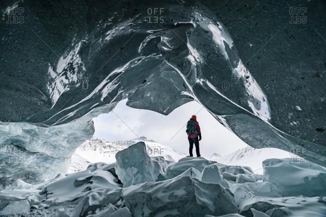 Exploring Jasper's Ice Caves Near Banff
