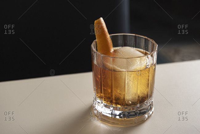 Whiskey cocktail on the rocks