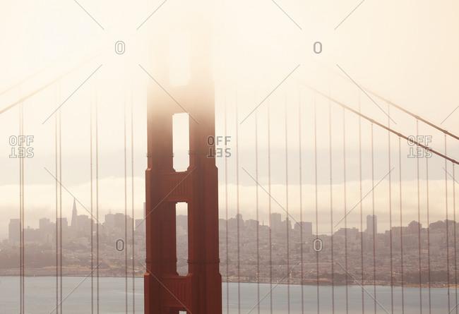 View of the Golden Gate Bridge in San Francisco, California