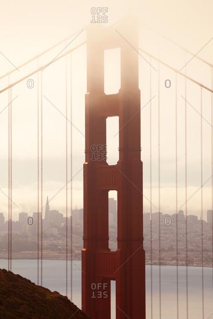 View of the Golden Gate Bridge over San Francisco Bay, San Francisco, California