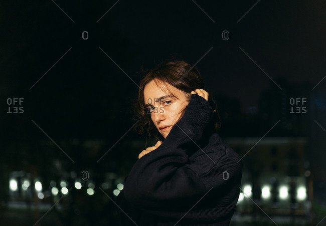 Portrait of a woman on the street