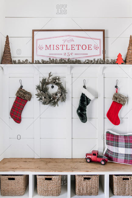Christmas entryway and home decor