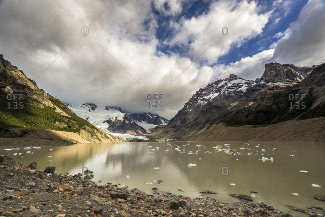 Scenic view of laguna torre, los glaciares national park, el chalten, patagonia, argentina