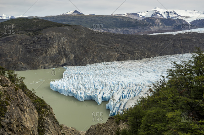 Idyllic shot of glacier grey, torres del paine national park, patagonia, chile