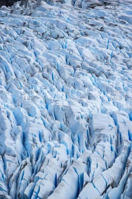 High angle view of glacier grey, torres del paine national park, patagonia, chile