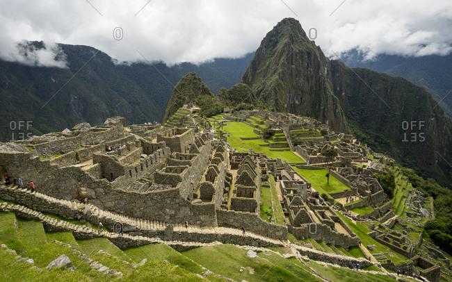 Scenic view of machu picchu, peru