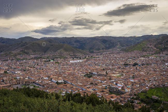 Cusco city seen from sacsayhuaman, peru