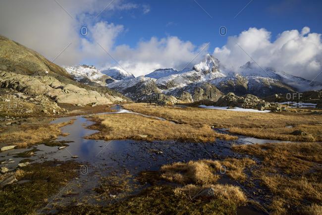 Serrato peak in tena valley, panticosa area, pyrenees, huesca province, aragon in spain.