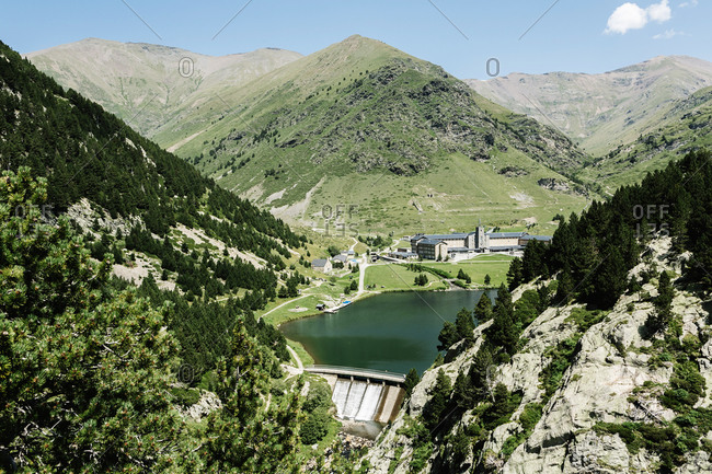Beautiful mountain landscape in the vall de nuria (catalan pyrenees, spain)