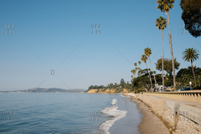 Butterfly Beach on the coast of Montecito, California